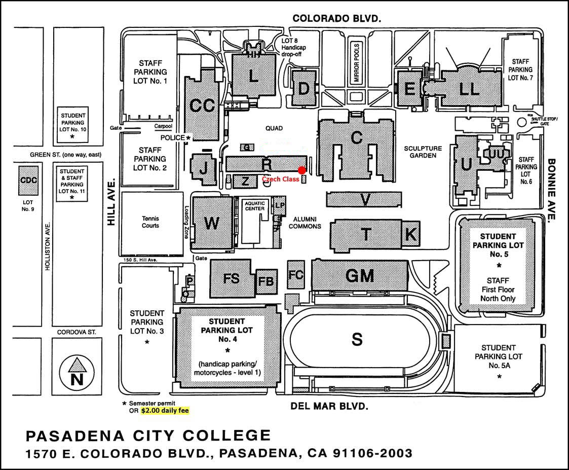 Campus Map (We meet in Building R - Room 111)